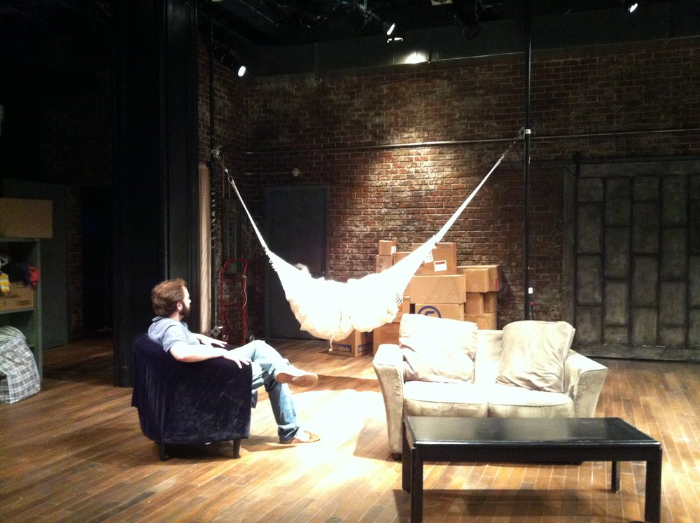 "Brett Warwick and Jessica Lamdon in the 2012 production of ""Dreams of the Penny Gods"" at Hunter College in NYC."