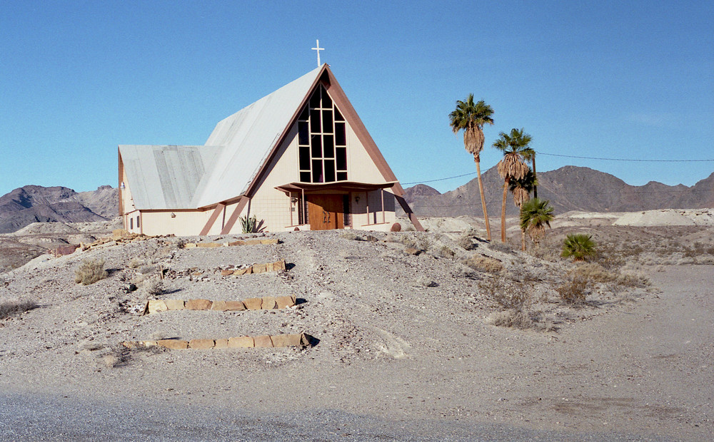 This is one of my favorite photos. Not only is this church in the middle of nowhere but it has a midcentury motif. I like to imagine the kind of folks that might be here on any given Sunday.