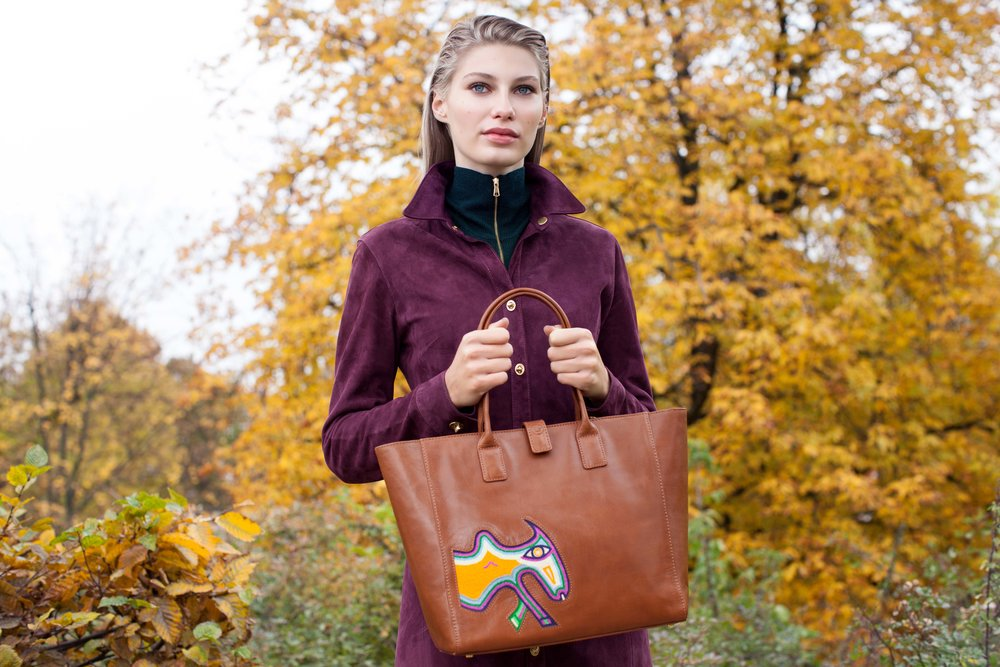 Lidia May Leather Ronni Cognac Bag
