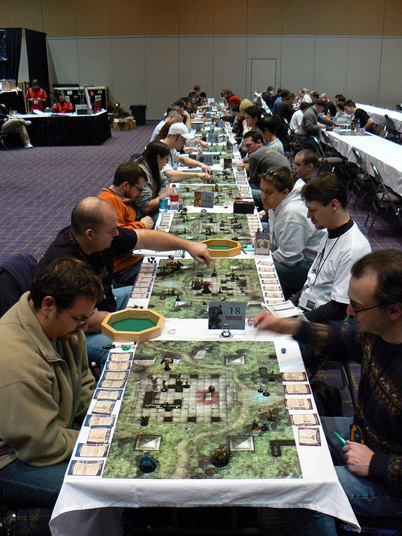 Dungeons & Dragons Miniatures tournament; Photo by Benny-Mazur