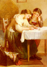 Love Letter by Henri Lejeune; PD-Art