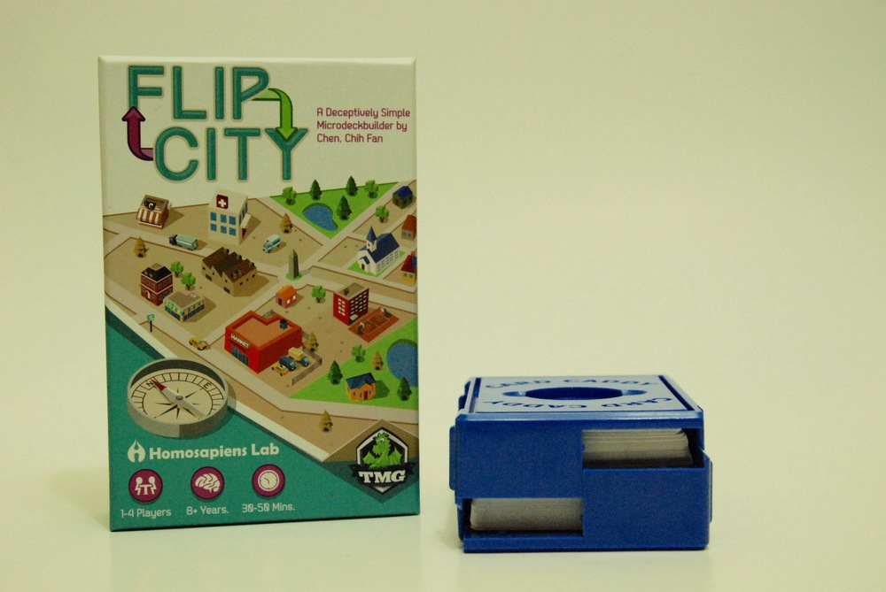The Card Caddy won't hold micro-deck builder Flip City.