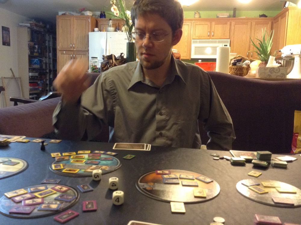 This would be my husband, Andrew, agonizing over a move.