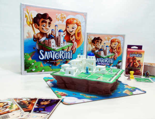Santorini is a game that takes advantage of the three-dimensional nature of board gaming. While it works best with two, you can play with three and four. It's great for families, and is a fantastic battle for adults. Photo by Teresa Jackson