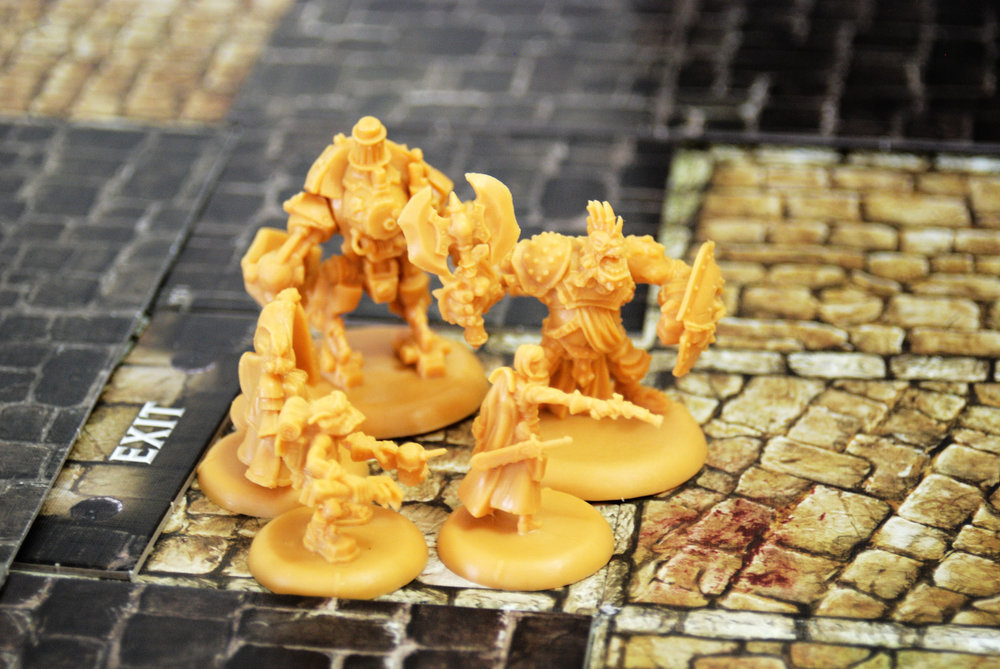 Your heroes start together, looking for bad guys and getting their objectives done. Theminis are very good quality.