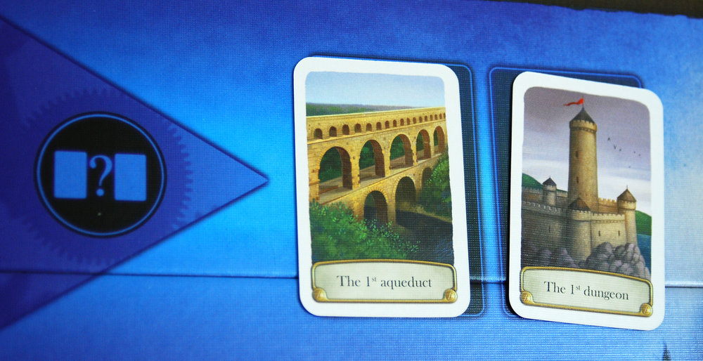 In The Split, you'd guess how many years it was between the first aqueduct and the first dungeon.