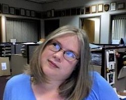 Me in my old newsroom