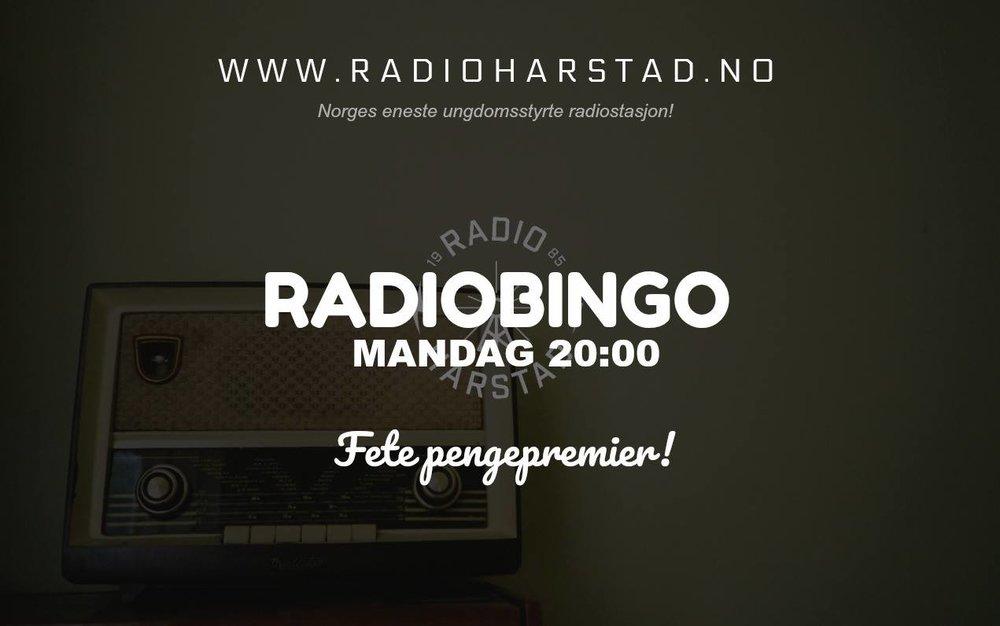 Vinn fete pengepremier på radiobingo hver mandag med Radio Harstad og Radio Bø