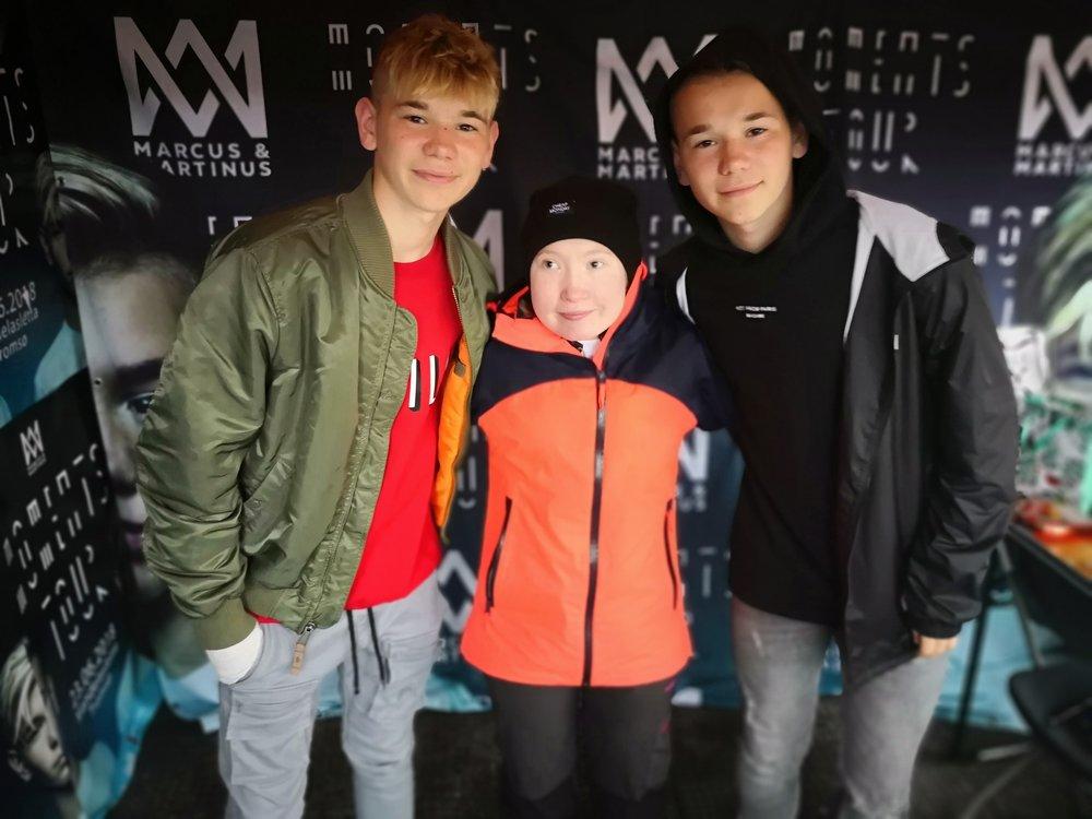 Reporter: Charite Esp, her med Marcus&Martinus. (Dessverre var ikke guttene tilgjengelig for intervju.)