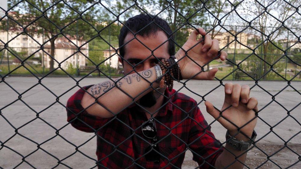 Nikan Khosravi form Iranian metalband Confess