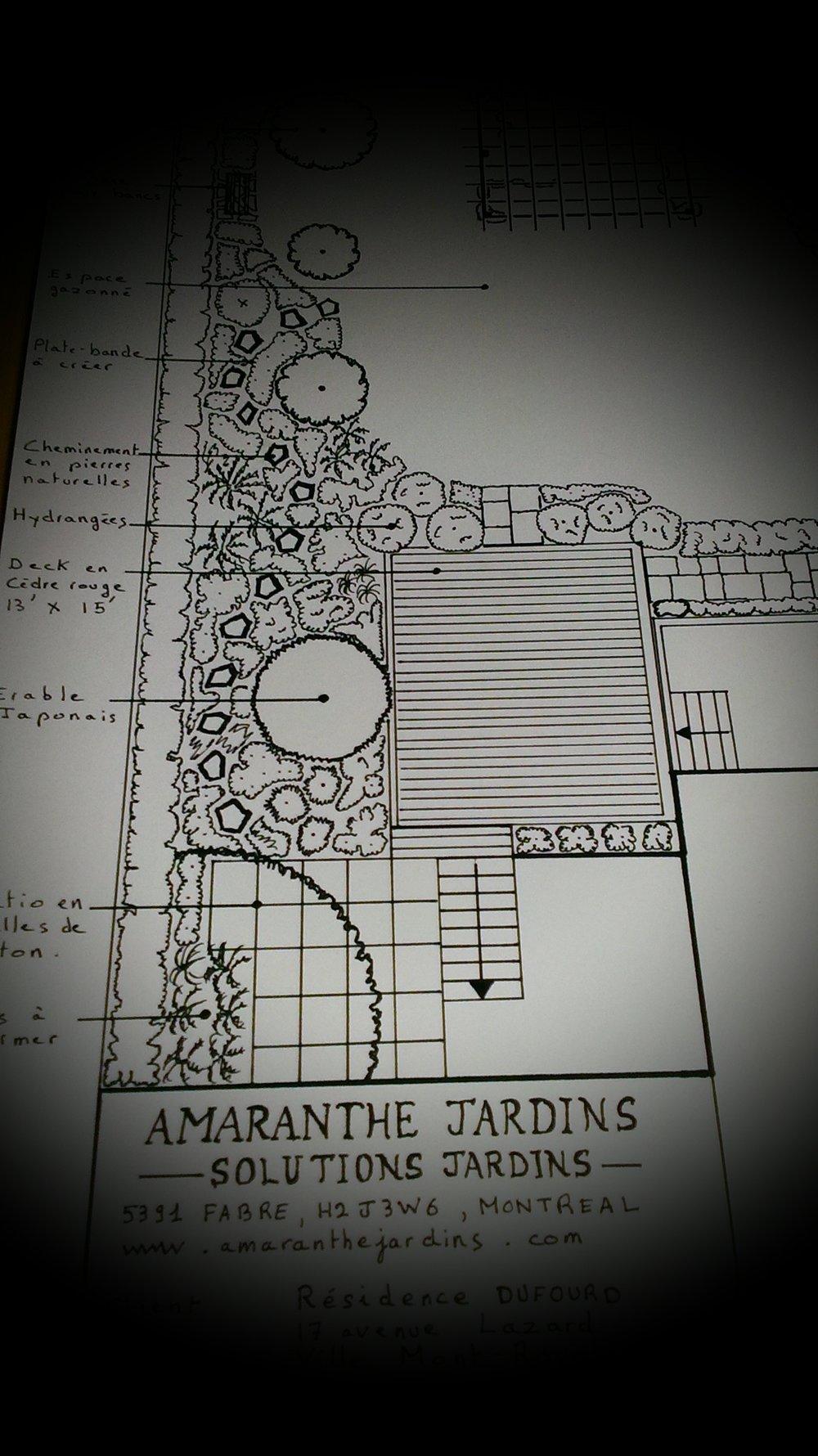 Conception    À partir de $ 500   Service de conception de jardins, réalisation plan d'aménagement, plan de plantation,