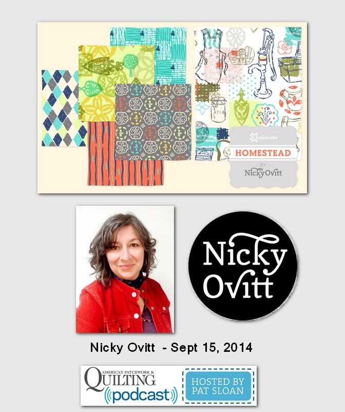 American Patchwork and Quilting Pocast Nicky Ovitt Sept 2014