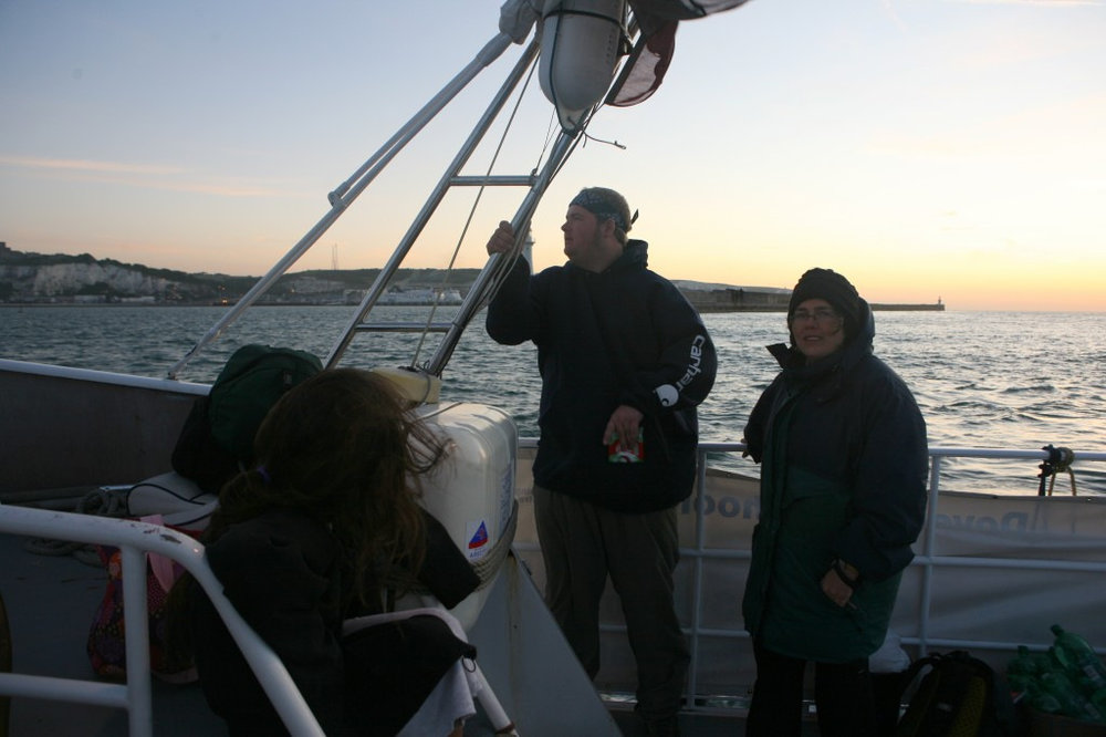 Meg O'Doherty and Bill McConnell on the English Channel.