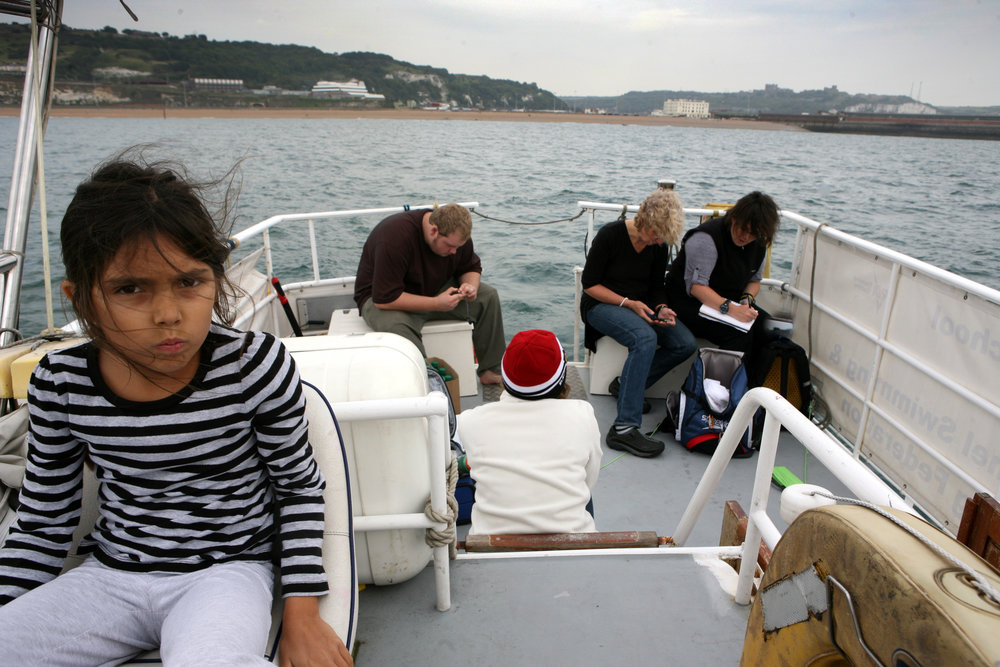 Eileen, the stowaway, and the youngest crew member to ever cross the English Channel.