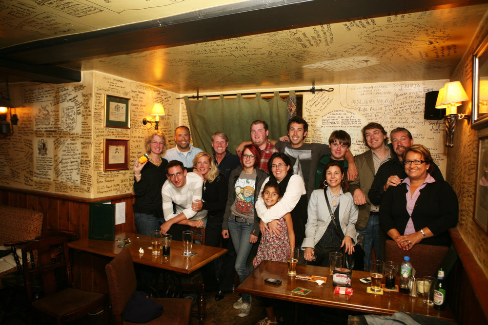 Our entire family at Dover's White Horse Pub.