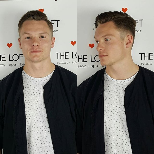 If you want to look as good as this dude,  a fresh haircut is a good place to start.  #theloftwinnipeg #winnipegsalon #winnipeg #hair #menscut #fade #redken #cleancut