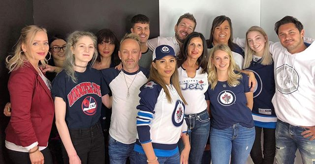 🏒 Some of THE LOFT team are showing their support today and will be cheering on the @nhljets tonight at 7 pm!! Show your support in the comments below!! . . . #theloftwinnipeg #winnipeg #winnipegnow #winnipegjets #winnipegwhiteout #winnipegwhiteoutstreetparty #gojets #gojetsgo #gojetsgo✈️ #gojetsgo✈️✈️✈️ #redken #Olaplex #kerastase #livingproof #evo #framar #winnipegblogger #winnipeghockey #winnipeghair #winnipegsalon #winnipeghairsalon #winnipegesthetician #winnipegnails #winnipeglashes #winnipeggelnails #cnd #shellac #imageskincare #gehwol #hottoolspro