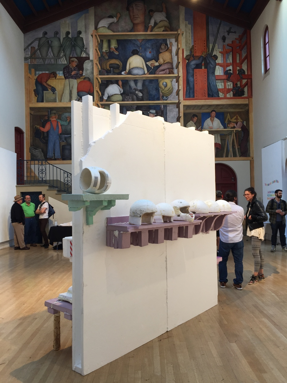 american empire , 2015.  styrofoam, extruded polystyrene, mylar, spray polyurethane, reflective tape.  dimensions variable.  Exhibited at the Diego Rivera gallery March 23-28th in  No Dogs No Hamsters.