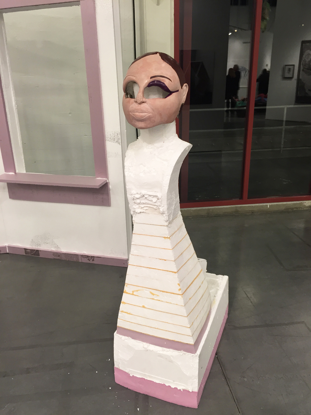 american empire 2 , 2015.  styrofoam, extruded polystyrene, mylar, spray polyurethane.  dimensions variable.  Exhibited at SFAI Vernissage at Fort Mason, May 2015.