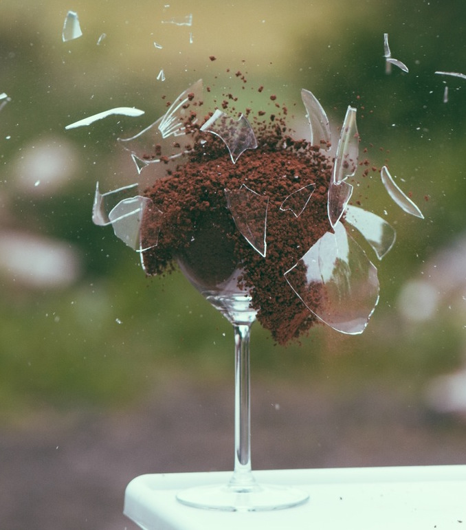 Sometimes, there's no stopping your glass of dirt from exploding.