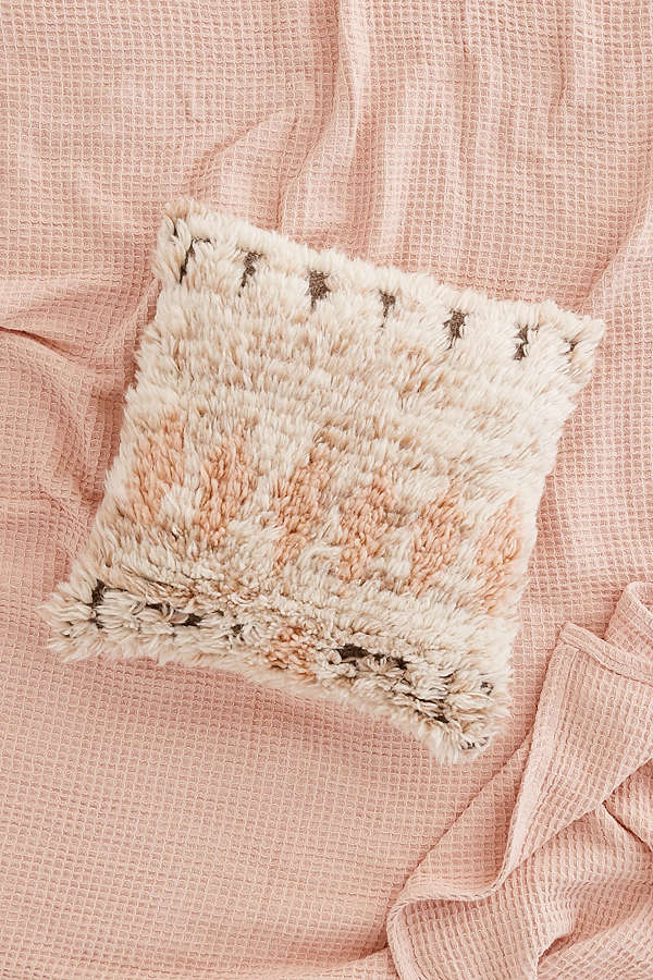 Neutral Wool Bohemain Pillow