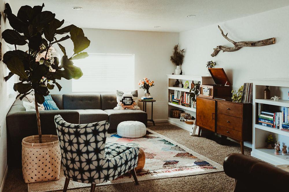Bohemian zen family room take u love larock