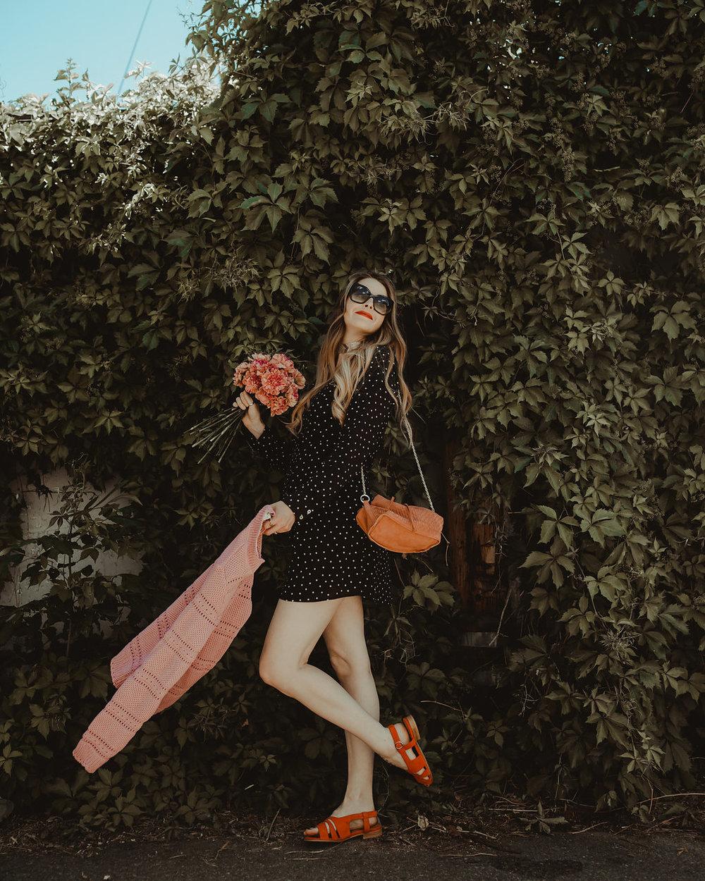 Dress  |  Shoes  |  Purse  |  Sweater  c/o Balzac Paris