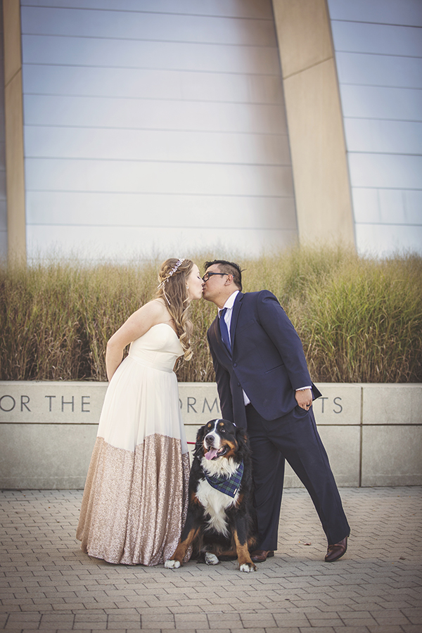 kansas city wedding - I've known Maggie for some time now and have always been interested in her work, but never felt like I had the opportunity to book her for something worthwhile. A million years later, my boyfriend finally proposed (coincidentally just weeks after I had contacted her and told her I would be in touch because I had a feeling he was going to propose) and Maggie was one of the first people I contacted (because, well, I'm a planner and who cares if the date isn't for almost 2 years from now??). At the time, she was living and working in KC so it was a relief to know I was going to be working with an experienced and talented photographer because let's be honest, it can be a real crap shoot when looking for a legit photographer (#amiright).From the first meeting down to the day of the wedding and even after the wedding, if I could describe my experience working with Maggie for an important, life-changing event in one word, it would be: easy. Maggie was available and quick to respond when I had questions, even when I knew she had a million things going on and even relocated back to Iowa, it was seamless. She picked out some great locations for our engagement photos (we had no real preference and basically said she could pick some places she liked to shoot), and even did a great job getting some shots with our energetic Bernese Mountain dog, Carl.The day of the wedding was a lot of fun, and I'll cherish the memories Maggie and Jules were able to capture for many years to come. If you are looking for quality work, a responsive and creative individual, look no further.
