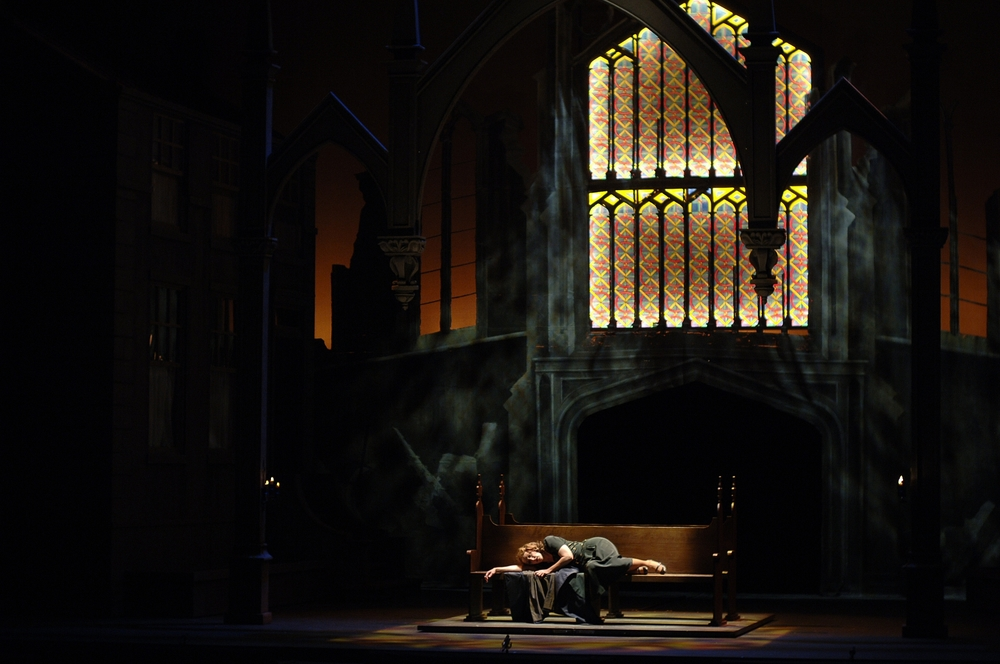 Act II-Sarah asleep in church.JPG
