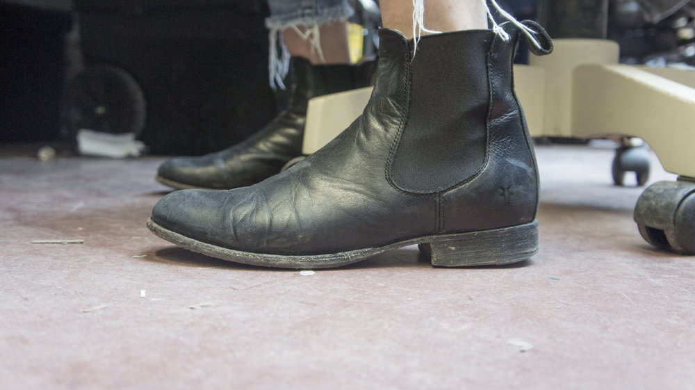 Sofia -  Black Leather Chelsea Boots