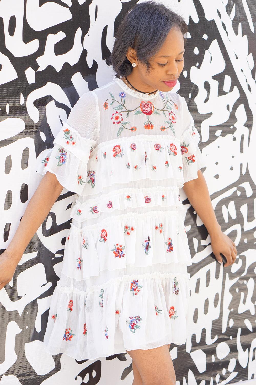 3112fc4b White Embroidered Jumpsuit Dress Zara   Saddha