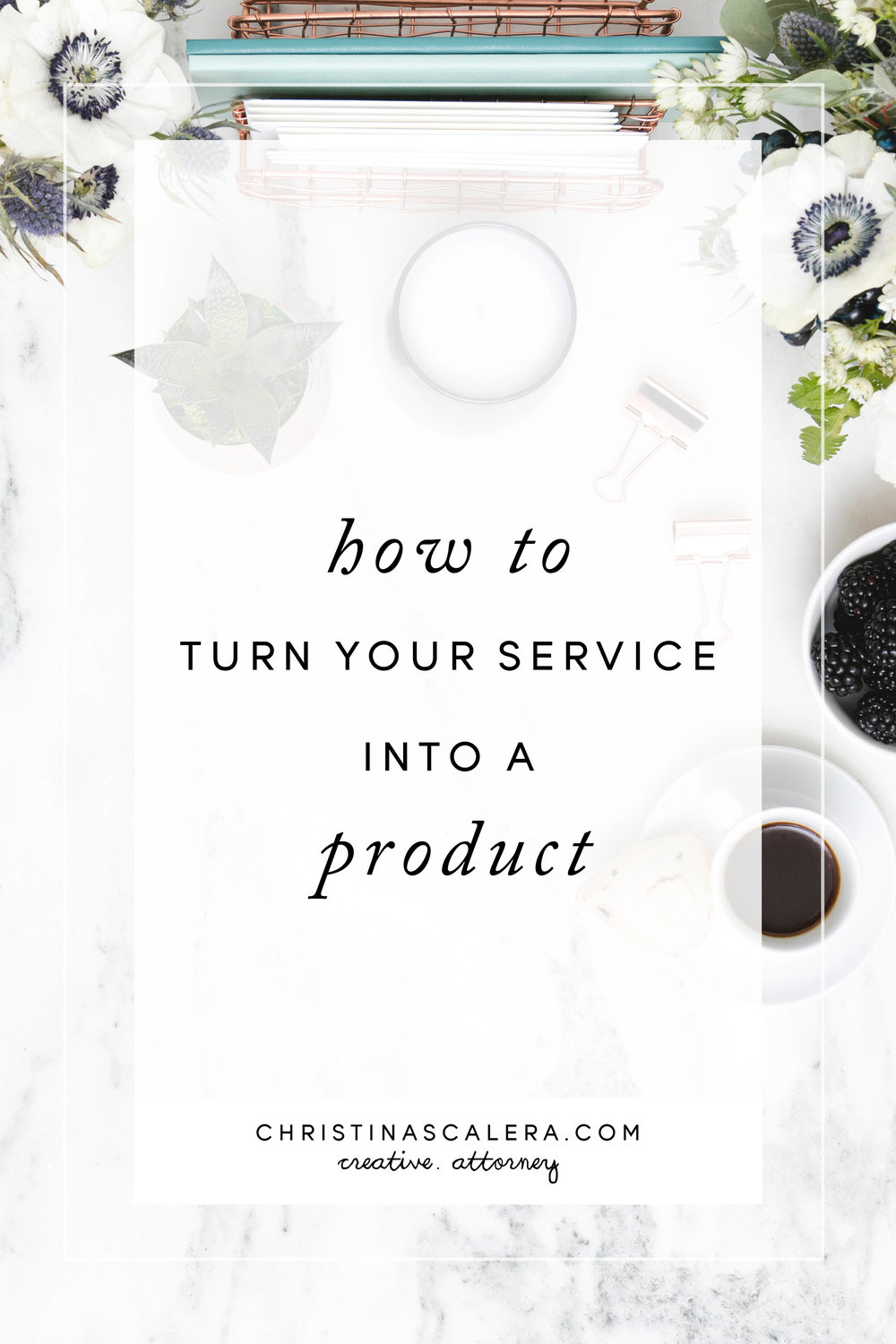 How To Turn Your Service Into A Product!
