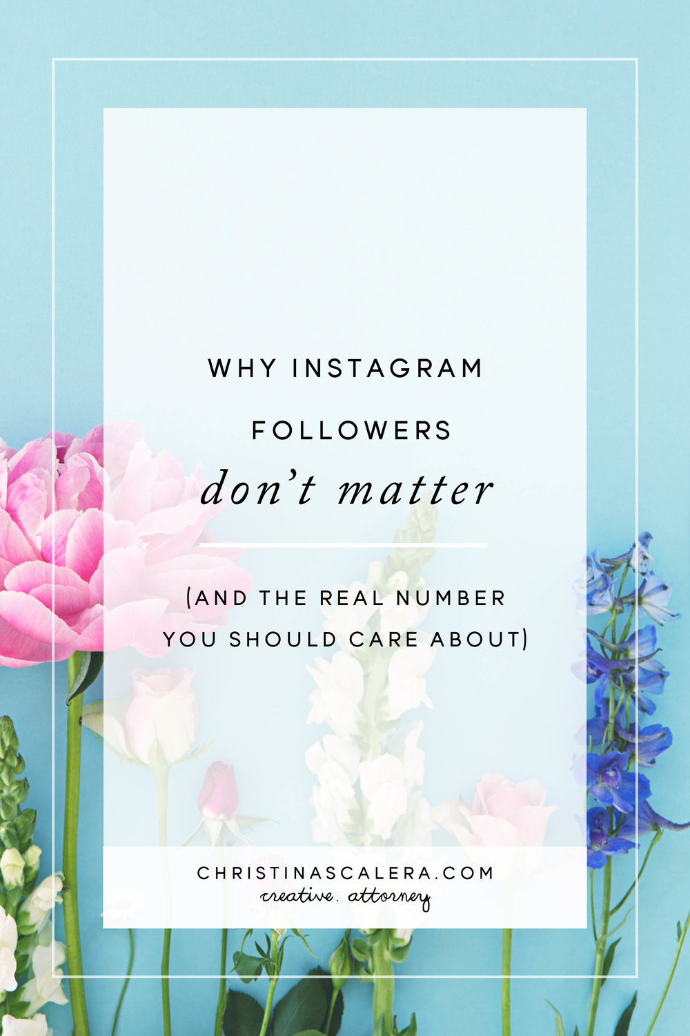 Why Instagram followers don't matter and the real number that you should care about!
