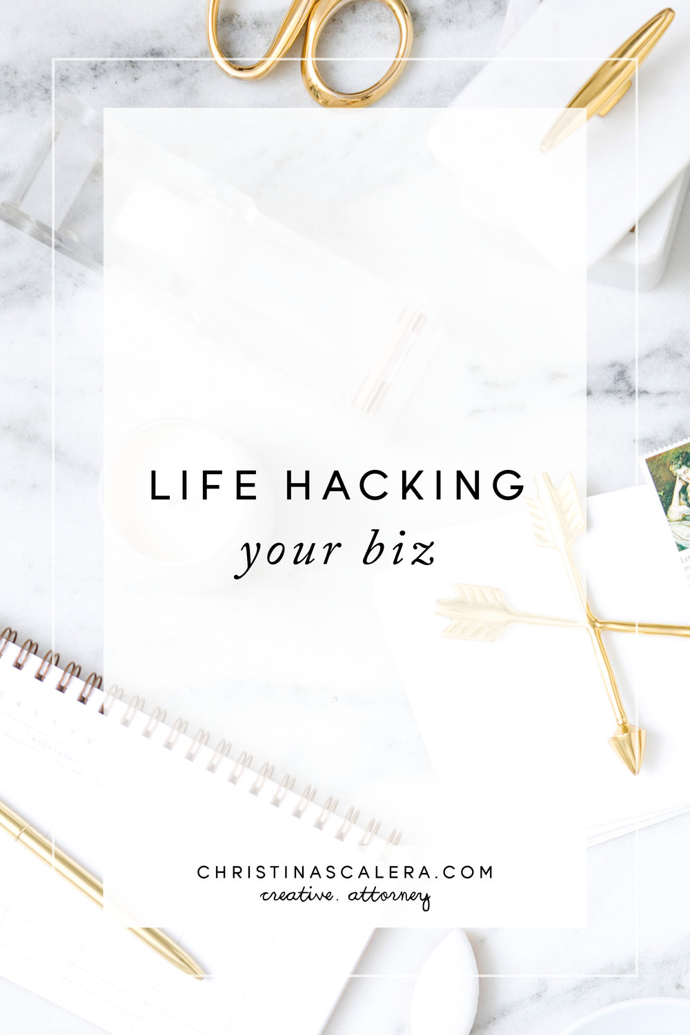 Life hacking your business. Legal tips for Creatives.