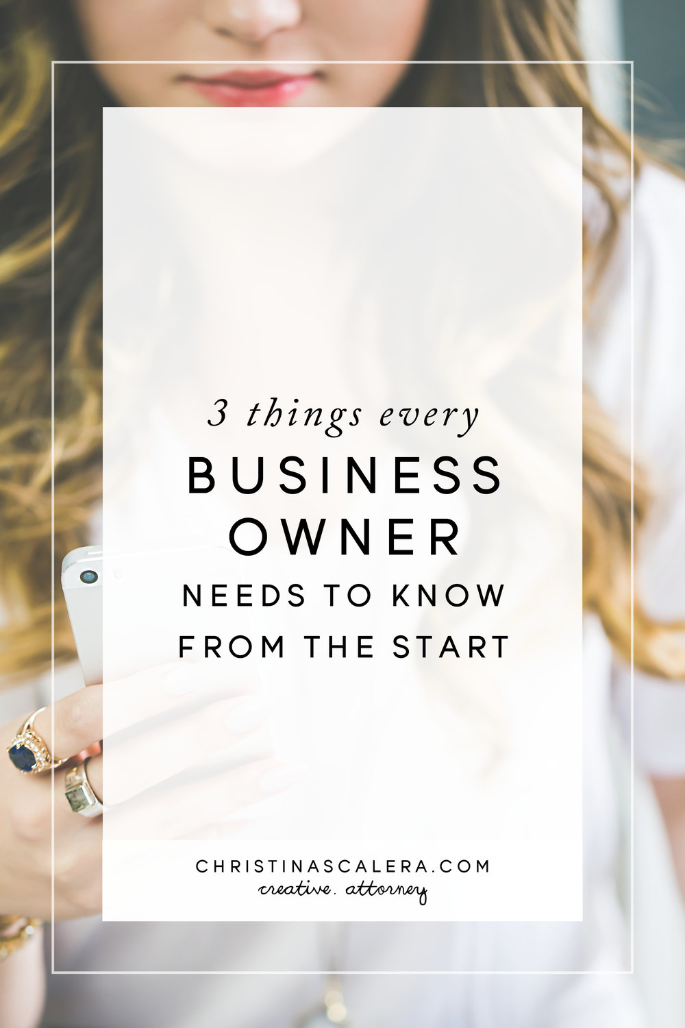 Here are 3 things every business owner needs to know from the start.