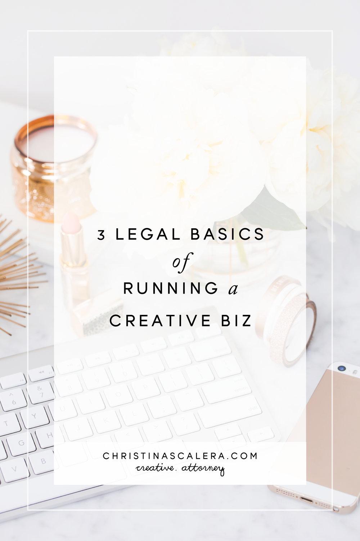3 Legal basics of running a creative business.