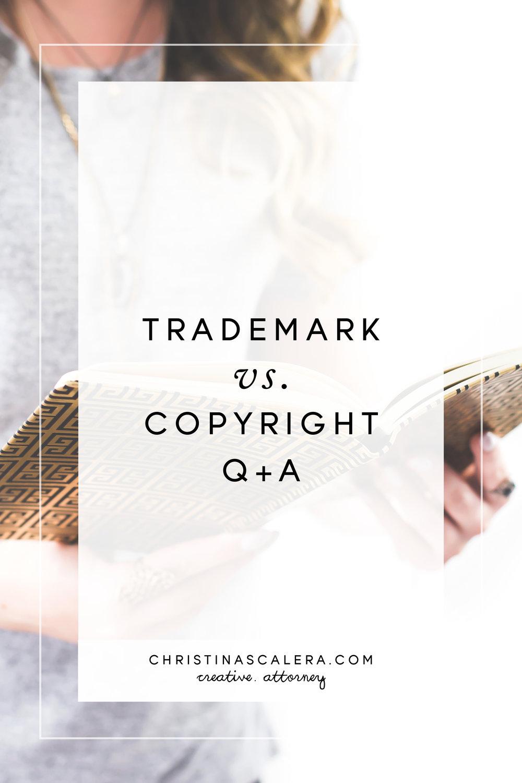 Trademark vs. Copyright