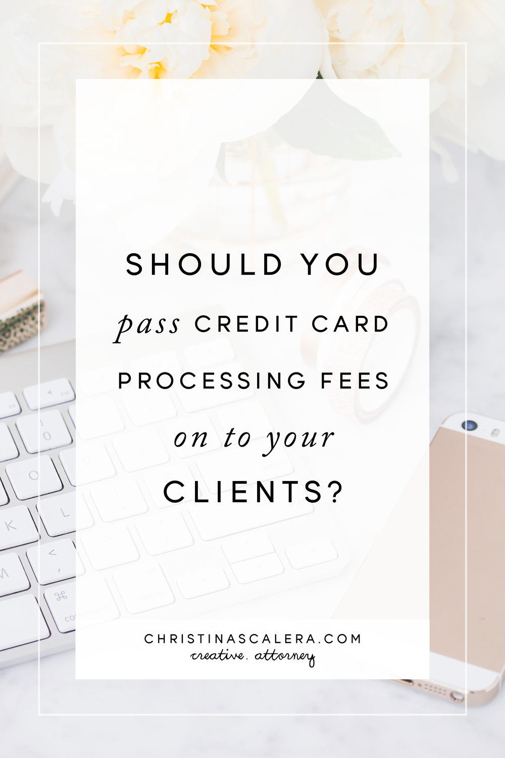 Passing Credit Card Processing Fees on to your Clients.