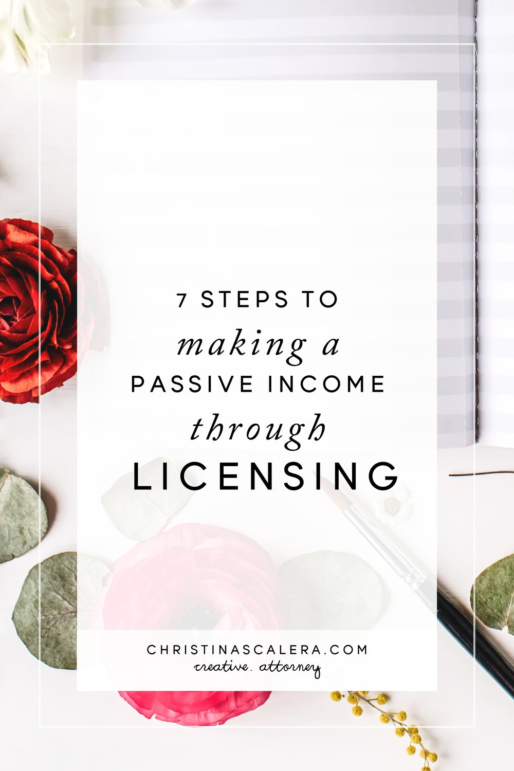 Steps to making a passive income through licensing. FREE PRINTABLE INCLUDED!