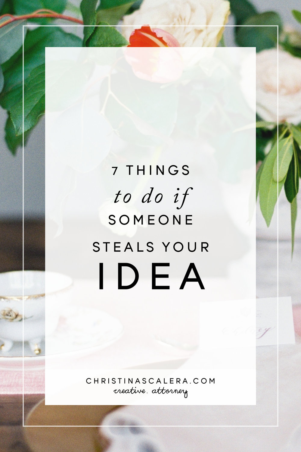 What to do if someone steals your business idea.