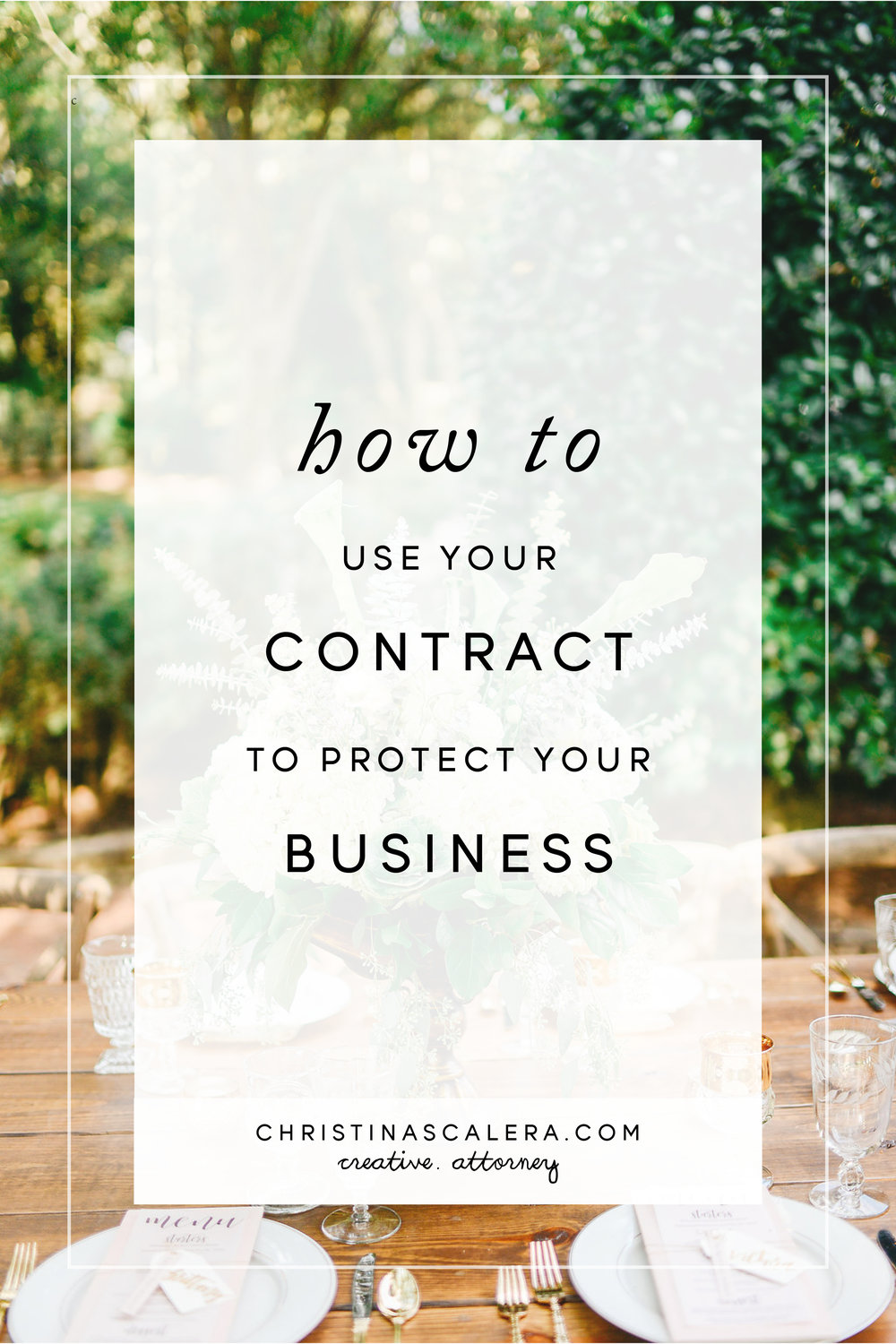 How to use your contract to protect your creative business.