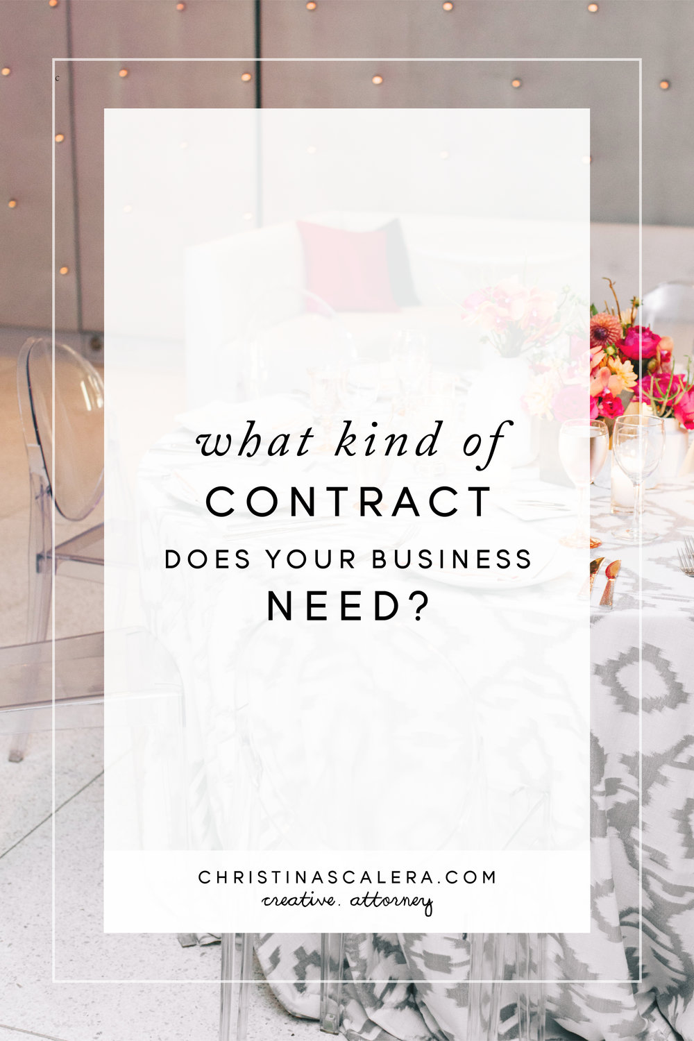 What kind of contract does your business need?