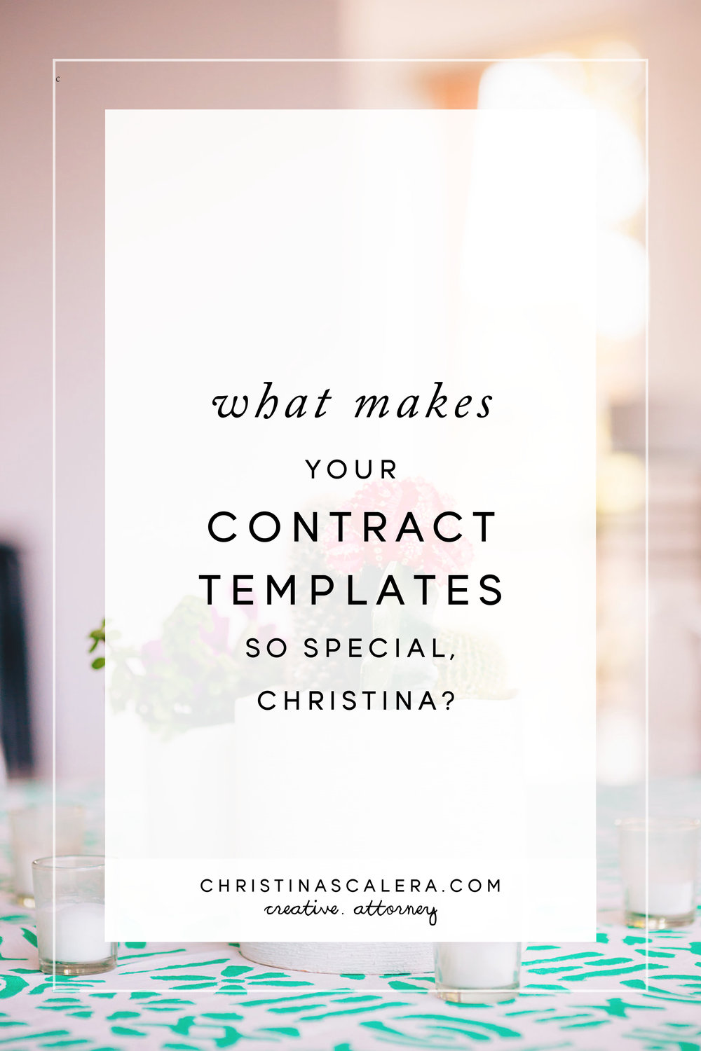 What makes your contracts templates so special Christina? legal tips for creatives...