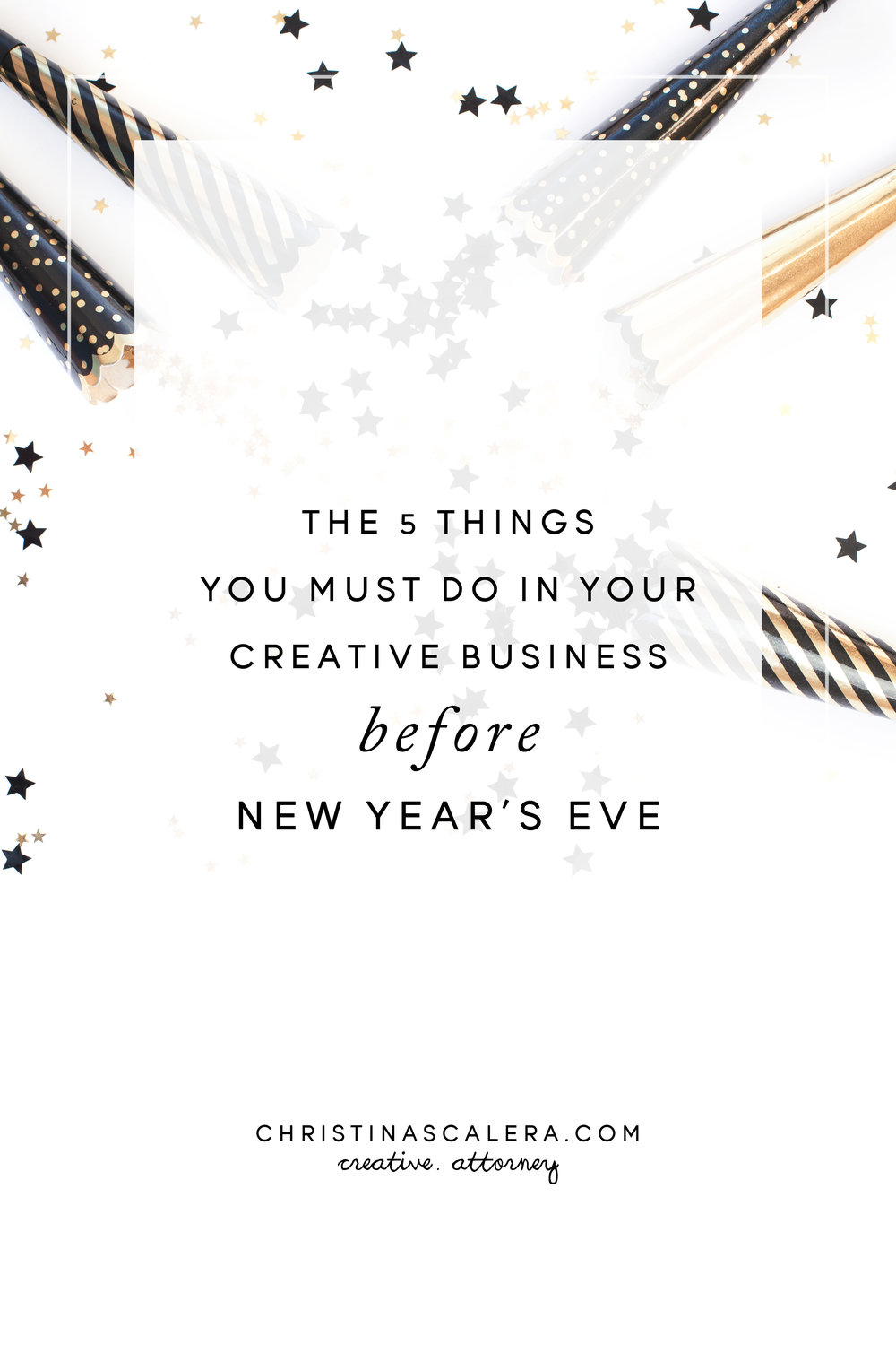 Here are 5 things you must do in your creative business before New Year's Eve.