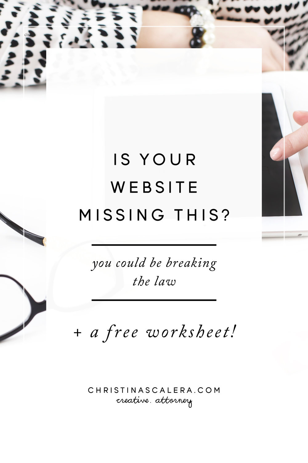 Is your website missing this? You could be breaking the law!!