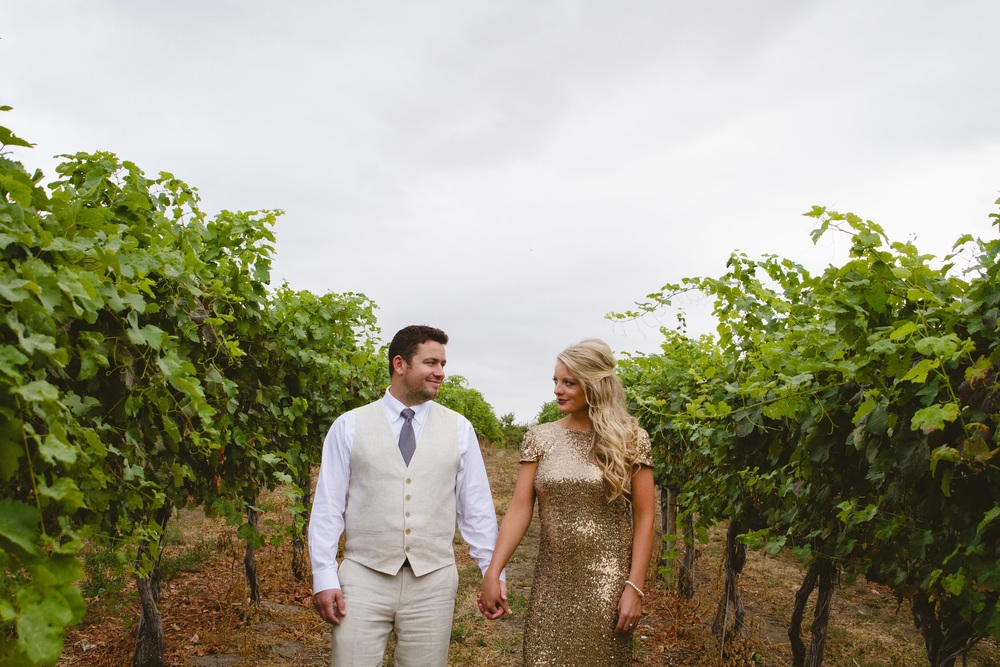 Simple & Elegant Wedding Reception in Lake Chelan • neutral gold decor • DIY • The Winemakers Wife • Meagan Kludt