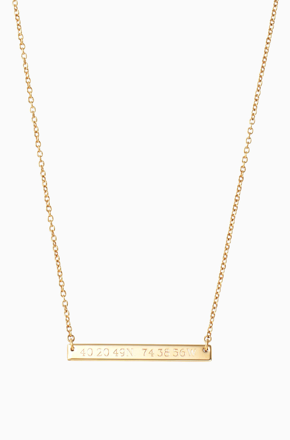 Personalized Bar Necklace - $69