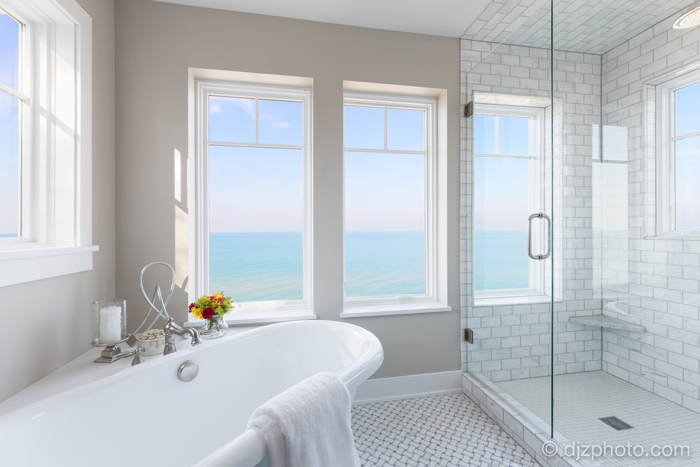 Master Bathroom on Lake Michigan