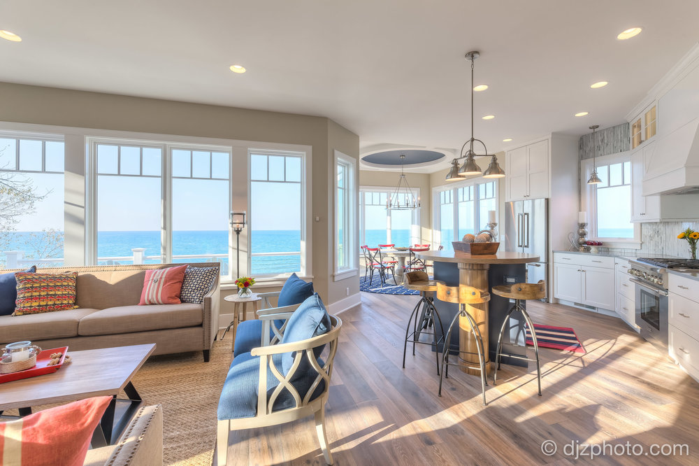 Living Room on Lake Michigan