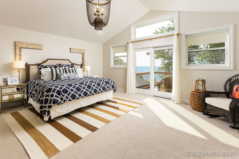 Master Bedroom on Lake Michigan
